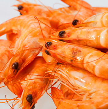 Shrimps with shells