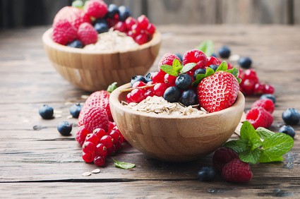 Oats and mixed berries